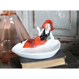 Smykkeskål Badepige [Baigneuse] Sort/Rød
