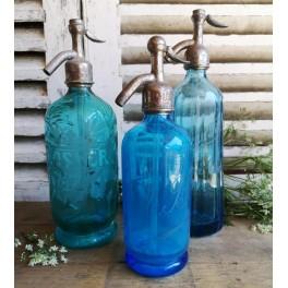 Fransk sifonflaske BLÅ [H27cm] LANGON