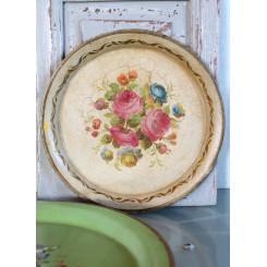 GL. Bakke med Blomstermotiv Gul [24,5cm] 1900