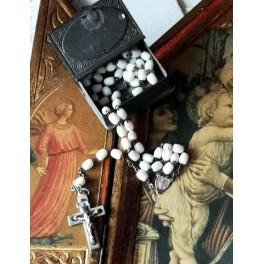 Gammel Rosenkransboks Bog med Rosenkrans [59 perler]