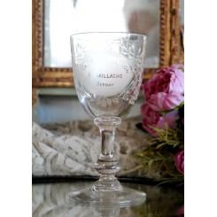 Gammelt Souvenirglas [H15,5cm] Krystalglas