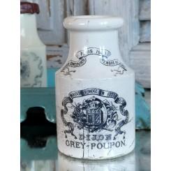 Smuk DIJON PARIS 1900 [Sarreguemines] Sennepskrukke