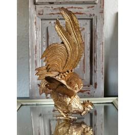 Gammel Figur Metal [Gylden Hane] STOR