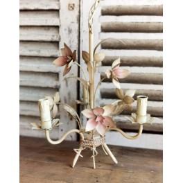 Fransk Lysekrone [Rosa Blomster] Emalje