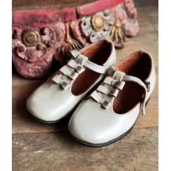 Vintage Sko med Sløjfer [Offwhite]