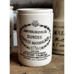 Gammel krukke, Fajance [Dundee] Orange Marmelade