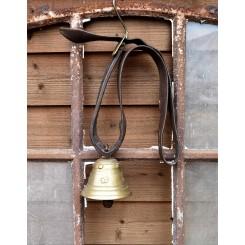 Antik Ko-klokke med Læderrem [L55cm]