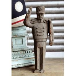 Antik Soldat Træ [L-41cm] 1910