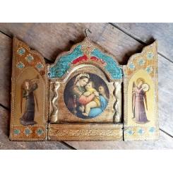 Gammel Ikon Icon Triptykon [H15,5cm] Rejsealter