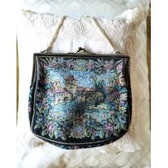 Vintage Taske i  Brokadestof