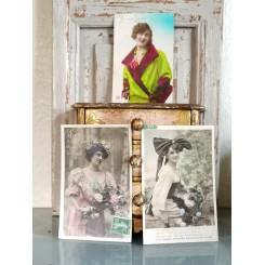 Gamle Nostalgiske Postkort [Femmes] 3 stk