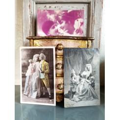Gamle Nostalgiske Postkort [Pierrot] 3 stk