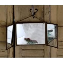 Fransk 3 fløjet Barberspejl [Lukket-20,5x15,5cm] Mirror