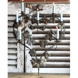 Fransk 7-Armet Kirkestage HJERTE [H70X52cm] Candelabra