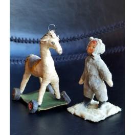 Presset Vat figur [Hest på Hjul eller Dreng] VÆLG