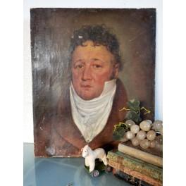 GL. Maleri FRANSK HERRE [46x38CM] 1815