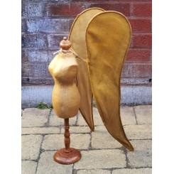 Gl. Fransk mannequin Haute Couture [H51cm] Papmaché