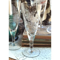 4 x Gamle Franske Champagnefløjter [H16,5cm] Glas