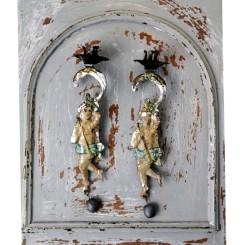 Lysholder ENGEL Håndmalet [Antik] Pr. stk