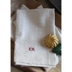 2 x Franske Håndklæder/Viskestykker