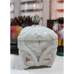 Gl. fransk Bonbonniere [Opalglas] ~1900