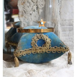 Antik Pude fra Brude Globe [BLÅ]