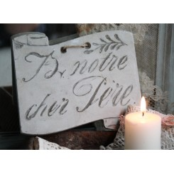 Gammel fransk mindetavle [14,5x16cm]