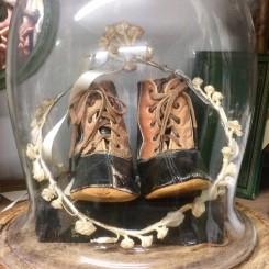 Vintage Baby-sko 2-farvet [Antik ]
