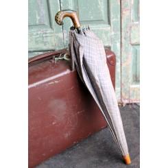 Vintage Paraply GRÅ TERN -Specielt Håndtag