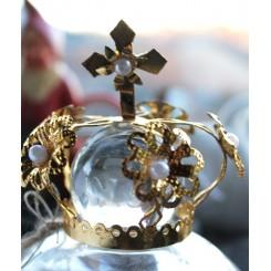 Krone Madonnakrone med HVIDE Perler