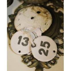 2 x Nøgle/Emaljeskilte [13+25]