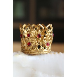 Krone Madonnakrone m./Røde sten