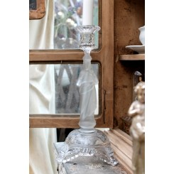 Gammel Glaslysestage JESUS (H30cm)