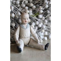 Gl Porcelænsdukke [H10,5cm] Dreng