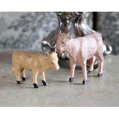 Gl. ko & kalv med tændstikkeben|Pr. stk