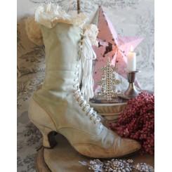 Gl. Vintage Støvler Canvas [lys mintgrøn]