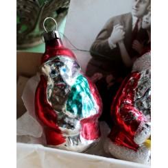 Julepynt Glas Julemand [7,5cm] Rød