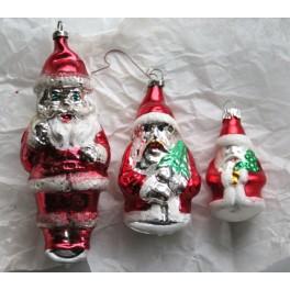 Julepynt Glas Julemænd [6,5-13cm] Pr. stk