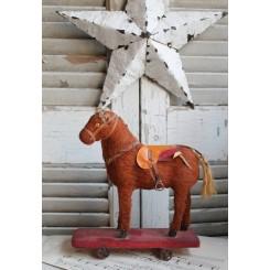 Fransk Hest på metalhjul
