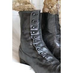Gl. Vintage Støvler med Knapper