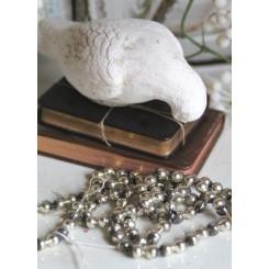 Fattigmandssølv Guirlande Perler [86cm] Sølv