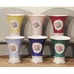 Porcelæns vaser [H10cm] | GUL