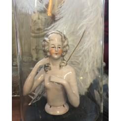 Gl. Fransk Half doll [9,5cm]