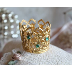 Krone Madonnakrone m./Grønne sten