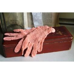 Franske Hæklede Handsker PEACH