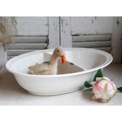 Gl Fransk Baby-Vaskeskål Dobbelt