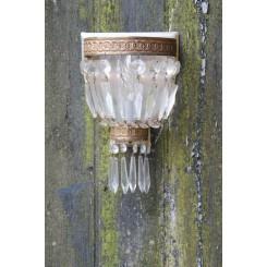 Fransk Væglampe Krystalglas