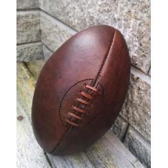Vintage Rugbyball [Håndsyet Læder]