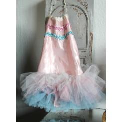 Vintage Pink Blå Tutu Balletkjole
