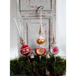 Gl Juletræs Spir [Pink-Sølv] |Pr. stk